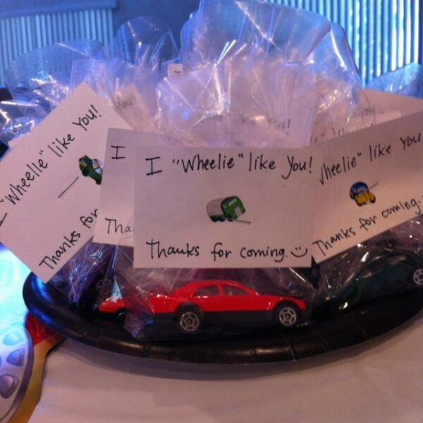 car birthday party favours