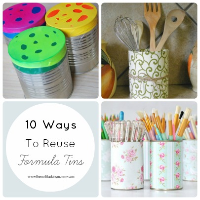 how to reuse formula tins