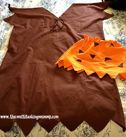 DIY Barney Rubble Costume