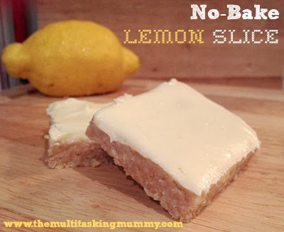 No Bake Lemon Slice