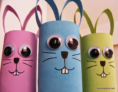 Toilet roll Easter bunnies