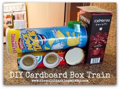 Mister Maker Cardboard Box Train