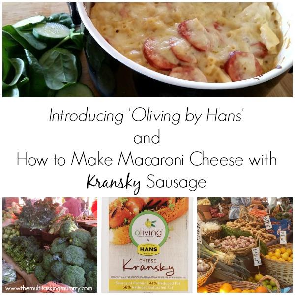 macaroni cheese with kransky sausage