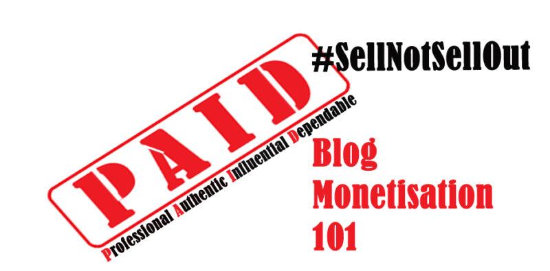 blog monetisation