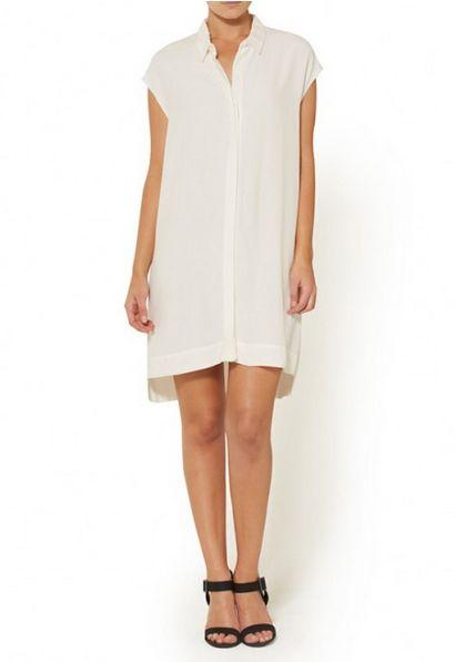 Sportsgirl Sleeveless Shirt Dress
