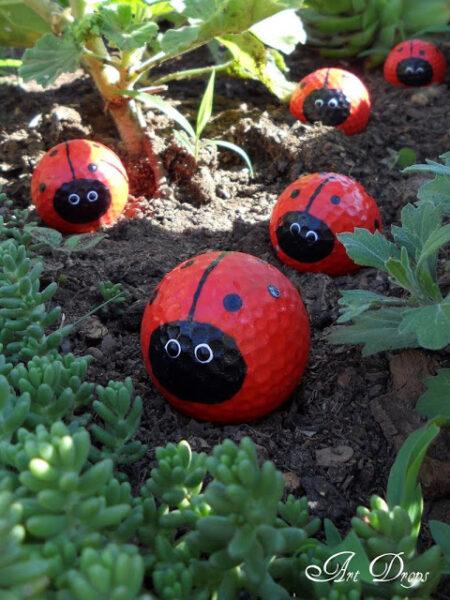 lady bug golf balls