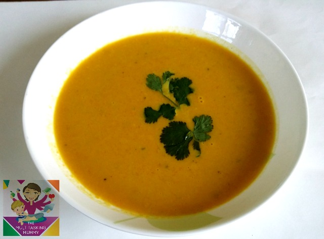 pumpkin, leek & carrot soup