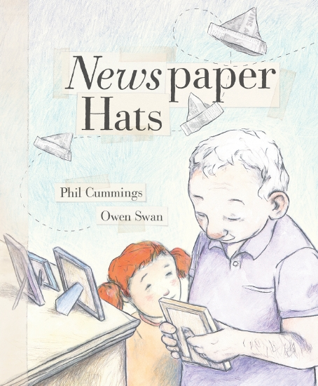 Newspaper Hats kids picture book alzheimers