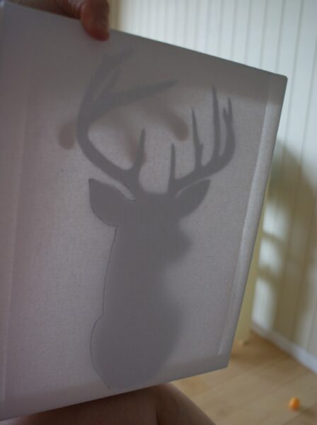 diy reindeer wall art