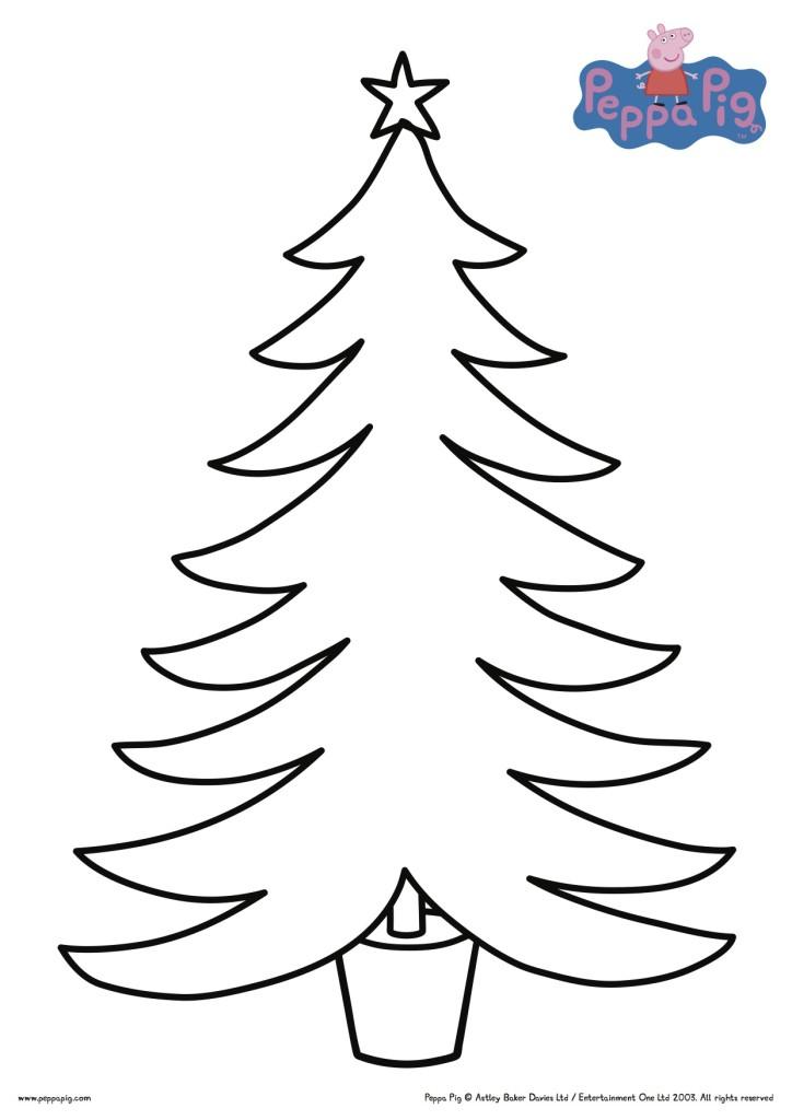 Peppa Pig DIY Christmas Tree Printable