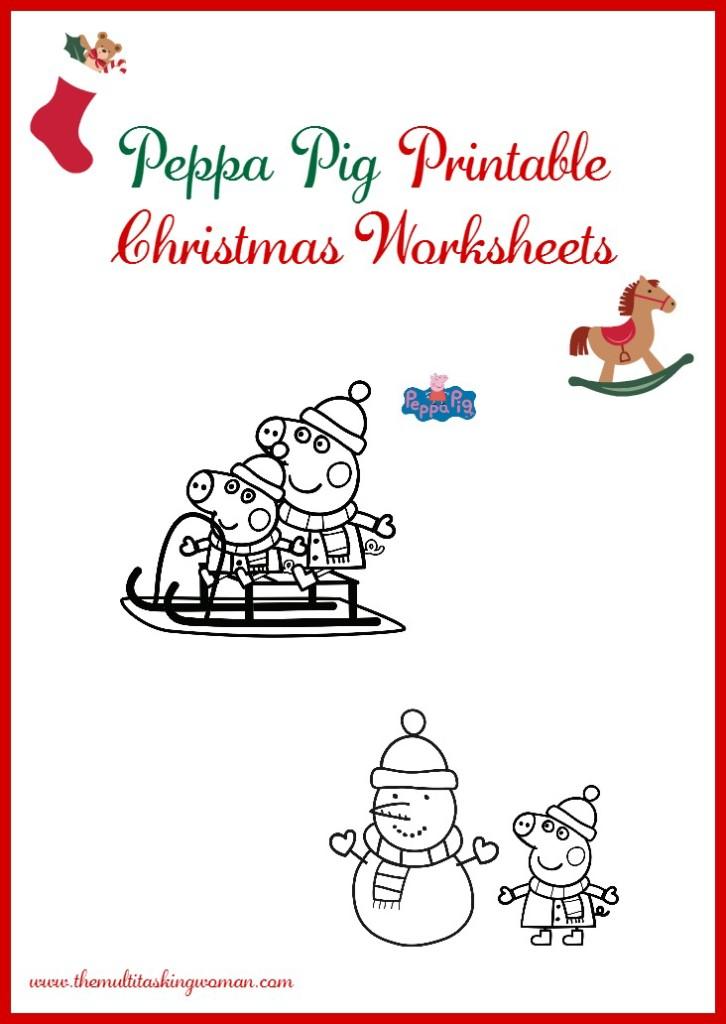 Peppa Pig Christmas Printables