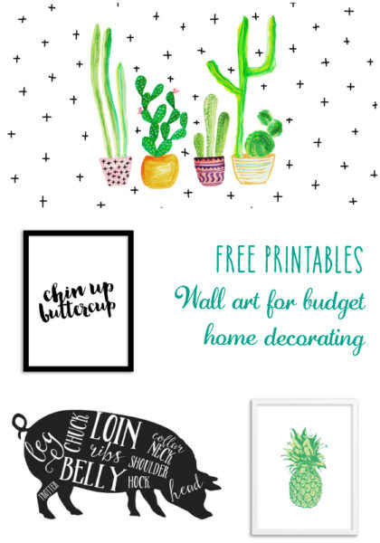 Free Printables Wall art for budget home decorating pin
