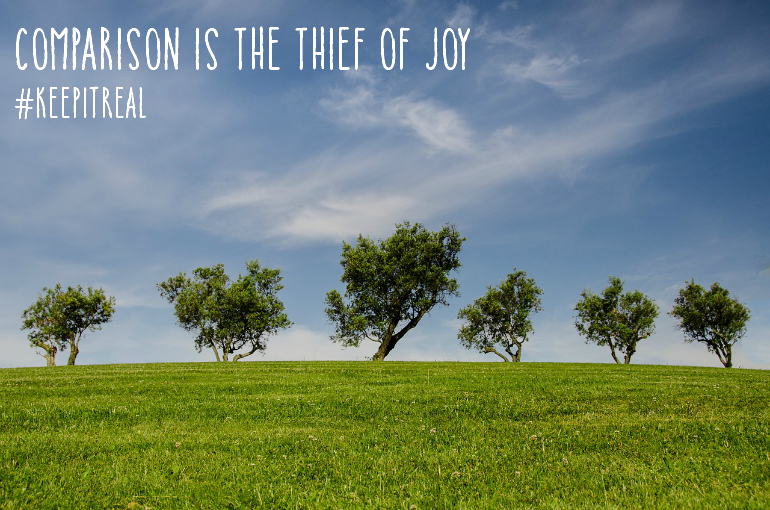comparison is the thief of joy pin