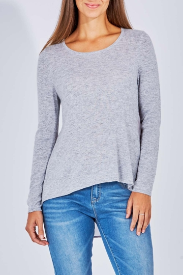 Metalicus Fortuna High-Low Knit Top