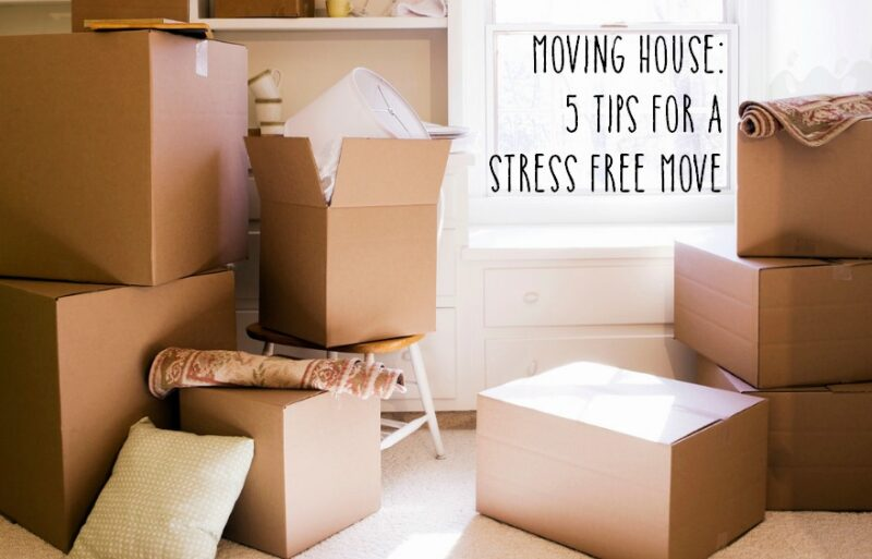 Moving house 5 tips for a stress free move