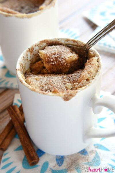 Snickerdoodle Cake in a Mug