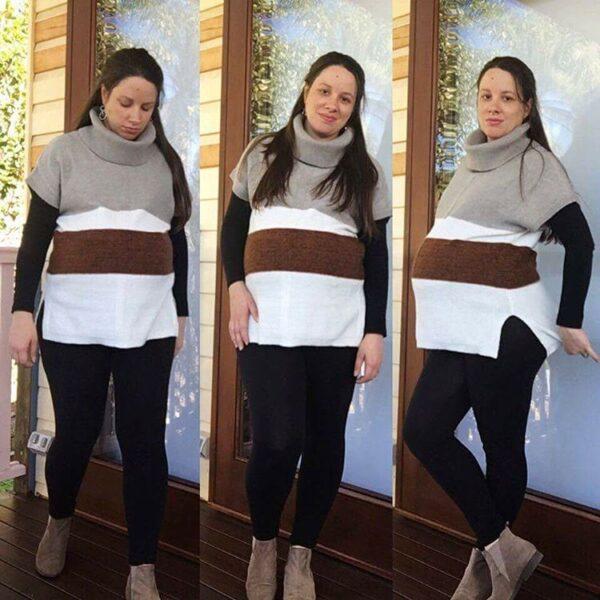 Rockmans stripe knit short sleeve