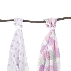 Bamboo Jersey Wrap Plum Collections pink polka dot