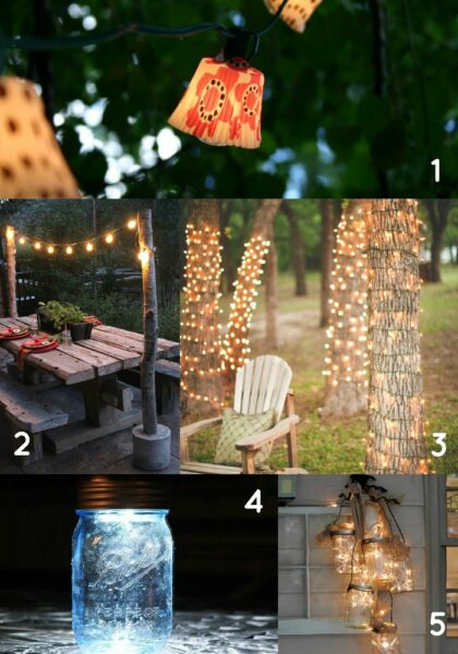 DIY Outdoor Lighting for your Backyard