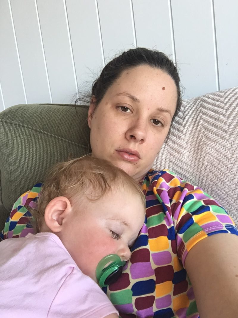 mum with sick baby