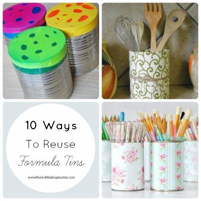 how to reuse formula tins