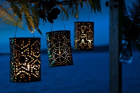 lanterns with formula cans