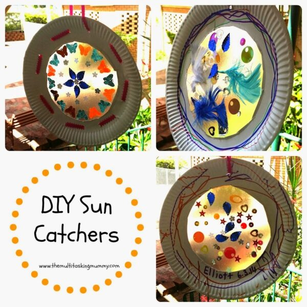 DIY Paper Plate Sun Catchers