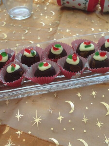 Mini Choc Plum Puddings