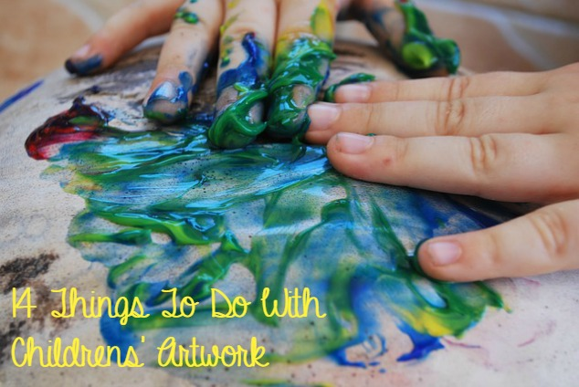things to do with childrens artwork