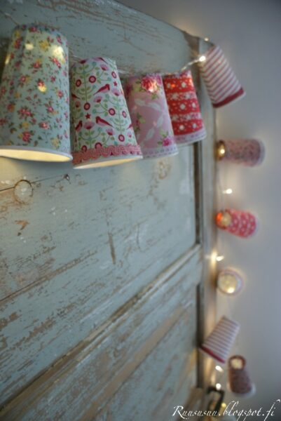 paper cup fairy lights garland
