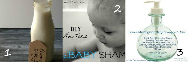 Homemade natural baby shampoo wash
