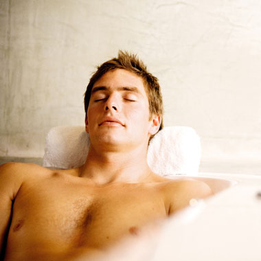 massage and foot bath for men
