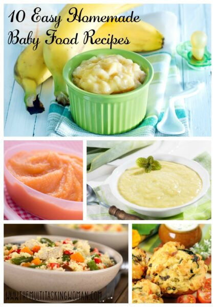 10 Easy Homemade Baby Food Recipes The Multitasking Woman