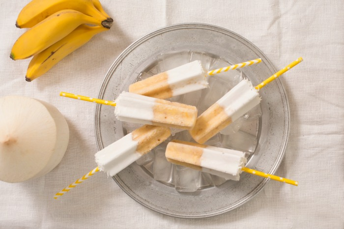 banana and coconut milk ice blocks recipe