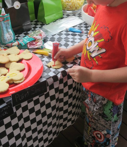 Monster Truck Cookies Decorating Station