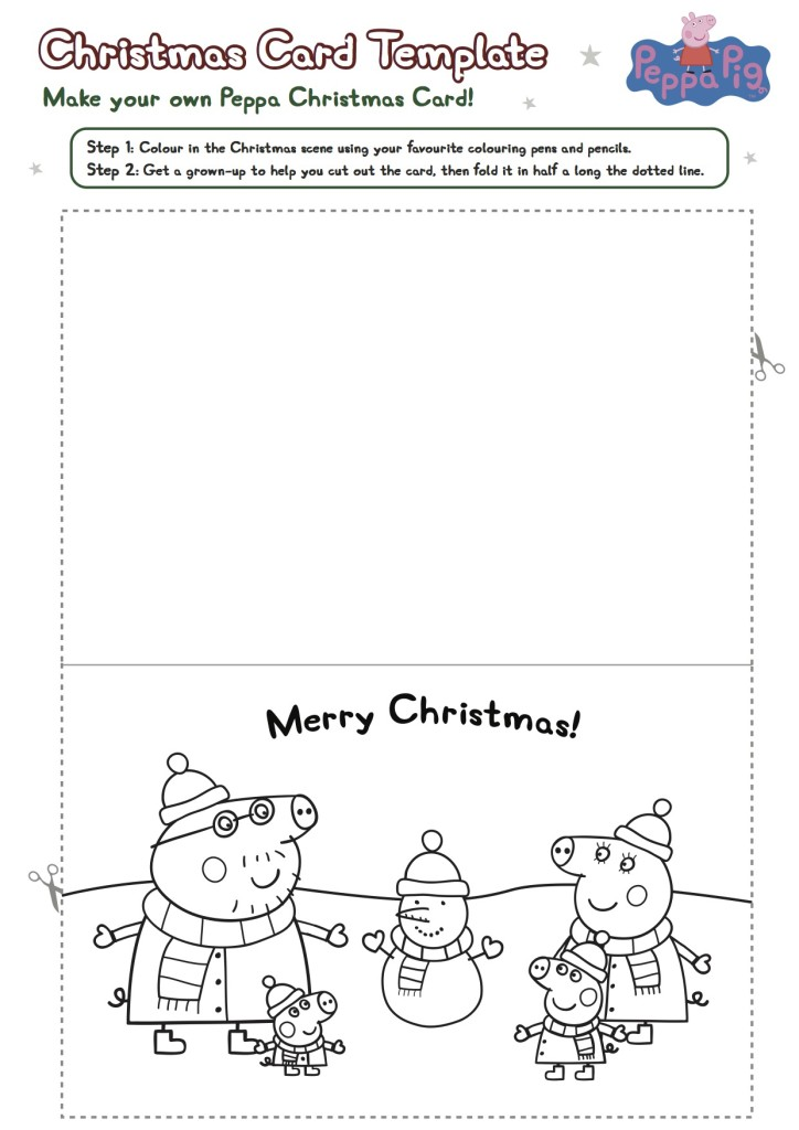 Peppa Pig DIY Christmas Card Printable