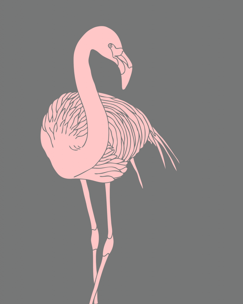 free printable flamingo wall art