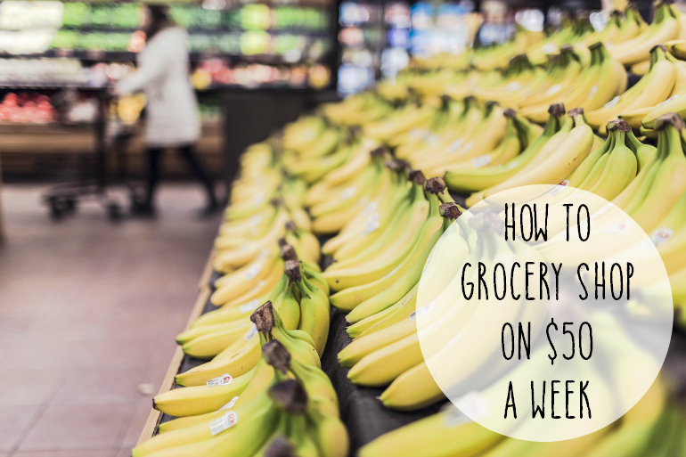 How to Grocery Shop on $50 a Week Pin