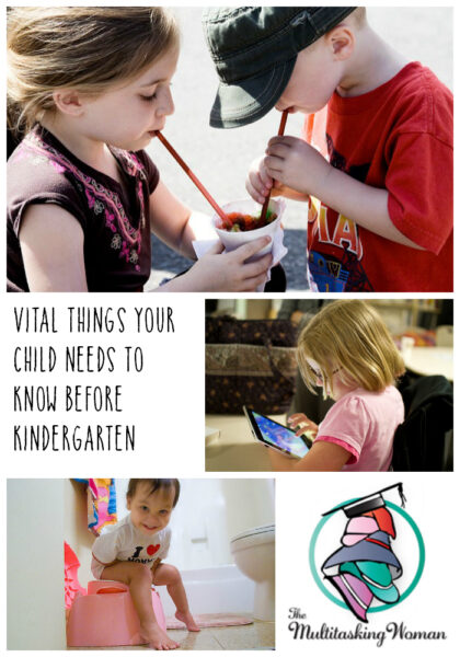 Vital things your child needs to know before kindergarden preschool pin