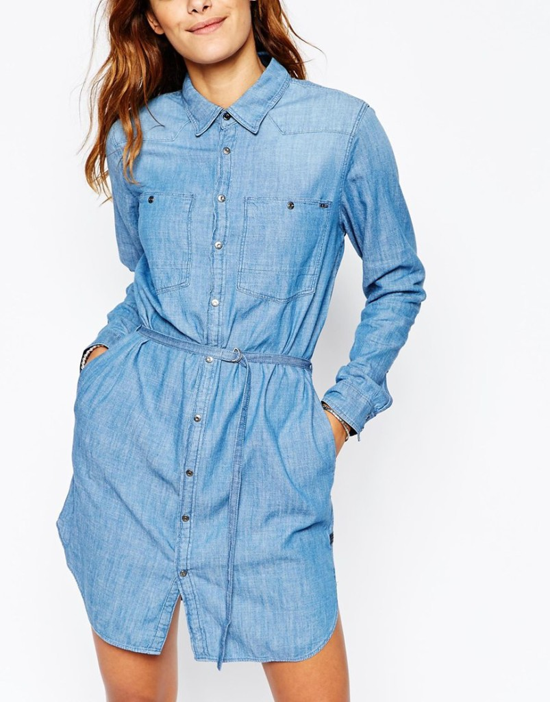 G Star Denim Shirt Dress