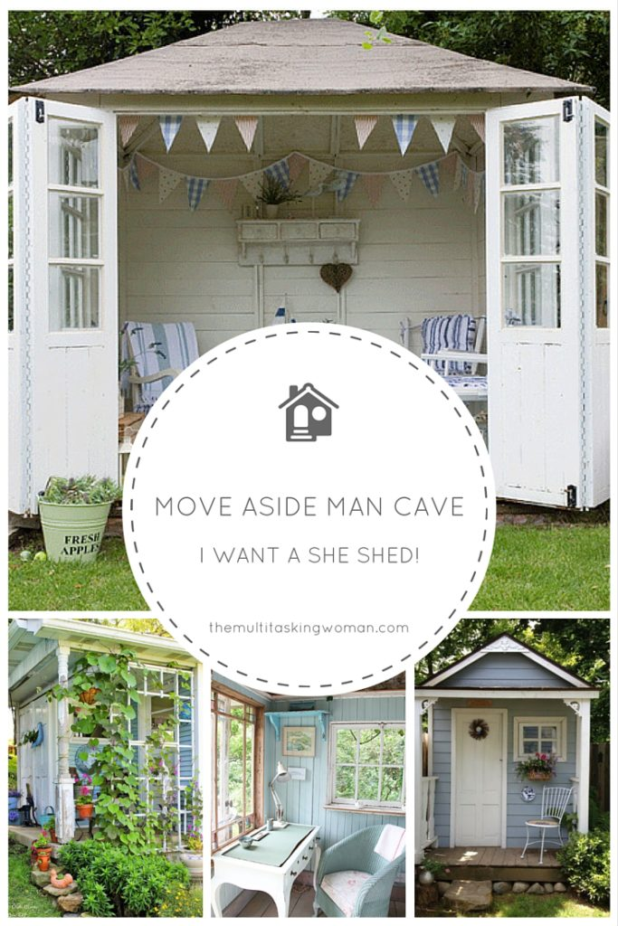 Move aside man cave, i want a she shed!