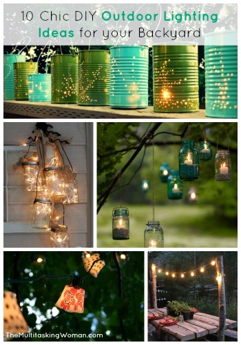 10 Chic DIY Lighting Ideas for your Backyard