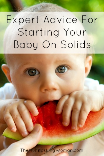 Expert advice for starting your baby on solids