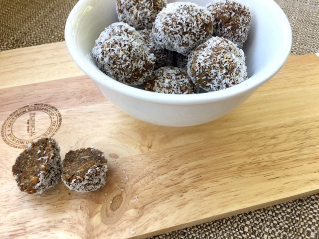 Raw Nut Free Carrot Cake Balls