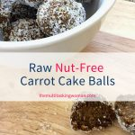 Raw nut-free carrot cake balls