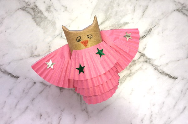 How to make a toilet paper owl pink