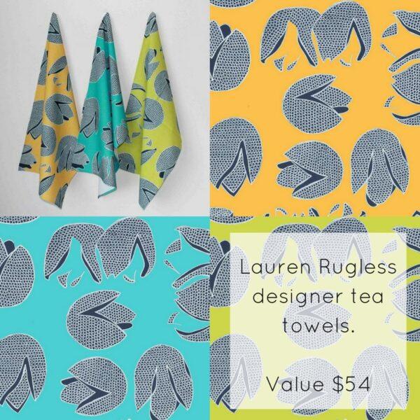 Australian designer tea towels