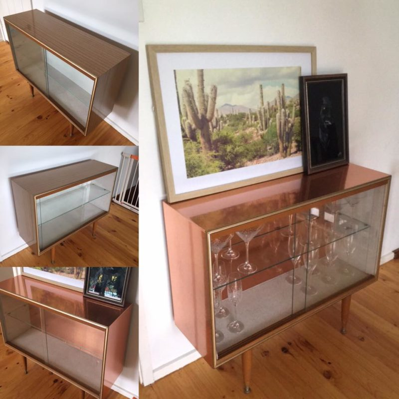 old cabinet kmart hack with rose gold contact