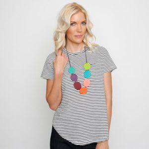 Ruby Olive Reversible Wonderland Flat Disc Necklace