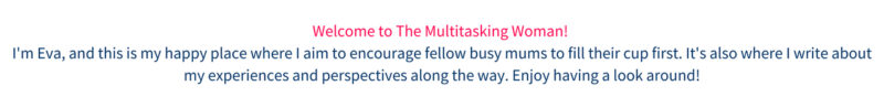welcome to the multitasking woman